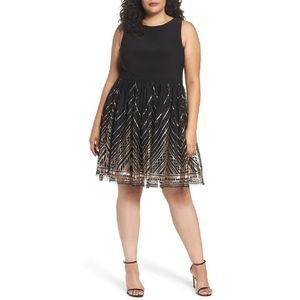 Vince Camuto Sequin Fit & Flare